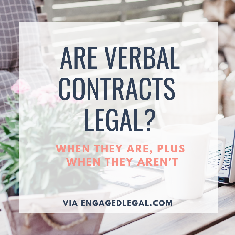 verbal contracts