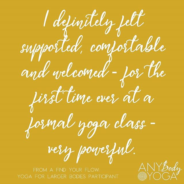 I wanted to share some feedback from one of the participants in my Find Your Flow: Yoga for Larger Bodies series. I often have people reach out to me to say they are interested in a class or series but really nervous about it, perhaps because they've never done yoga before, or due to doubts about their body's ability to do yoga, or anxiety about trying a new thing. And what I'm here to share with you if you have some of those same doubts or nervousness, is that YOU ARE NOT ALONE. A large majority of the people who participate in my series or workshops share that they felt/ feel the same way. In fact, this series is designed specifically for people who feel this way. And what often happens when we decide to show up anyway, nerves and doubts and all, and we see that we're not at all alone in this, is that those nerves and anxiousness and doubts start to have a little less power over our lives. So if you are one of those people who are having similar thoughts, maybe today is the day to go for it. If you want a taste of what the Find Your Flow: Yoga for Larger Bodies series is like, you could sign up for the one day intro workshop I'll be teaching this Saturday at @grflipdog Link in bio to sign up. If you're ready for the full series, registration will be opening soon! And if you have doubts or anxieties that need to be heard or questions that need to be answered before you show up, please reach out. You can comment here or send me a direct message. I'm always happy to answer. 💜  #youarenotalone #yogaforall #yogaandbodyimage #yogaforanxiety #grandrapidsmichigan #grandrapids #grandrapidsyoga