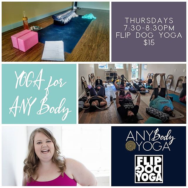 I've changed the name of my Thursday night class at @grflipdog from Slow Flow to Yoga for Any Body to more accurately represent the type of class this is - a space for people in any type of body to come move and be curious about what our unique bodies have to teach us.  So, if you've been curious about checking out one of my classes, this Thursday is a great day to do it!  Class is focused on being accessible to people in any type of body and providing a space for people who may not feel comfortable in a typical yoga space. Lots of options are given to help you find the version of poses that work best for your body in a supportive and non-judgmental atmosphere.  As always, feel free to reach out with any questions 💜  #yogaforanybody #yogaforallshapesandsizes #bodypositiveyoga #grandrapidsmichigan #grandrapidsyoga #michiganyoga #beginnerfriendly #becurious #bodywisdom