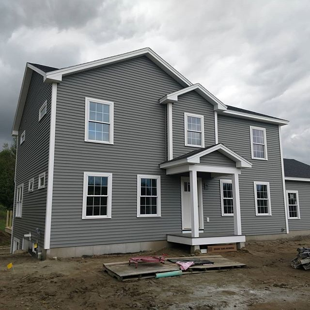Siding and interior are coming along at 17 bittersweet lane.
