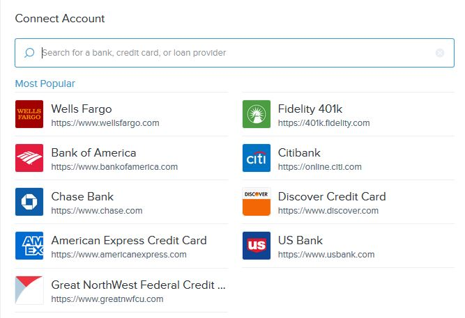 Connect your other accounts to add them to your budget and spending tracking. Viewing all accounts with a single sign-on makes staying on top of your finances easier than ever.