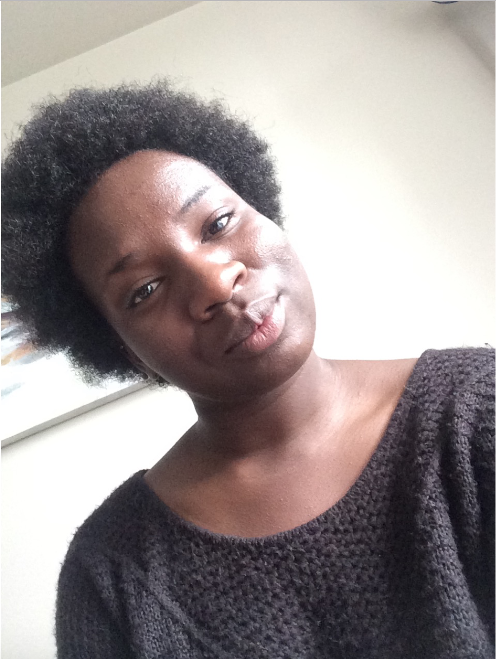 This was the first time I fully saw my natural hair in it's full form. This summer was also the first time I wore it out longer than a few days. ~ July 2017