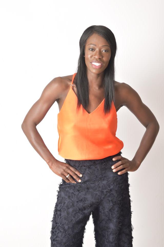 Kristianah Fasunloye modelling camisole Tangerine Twist // Donna Benjamin Photography