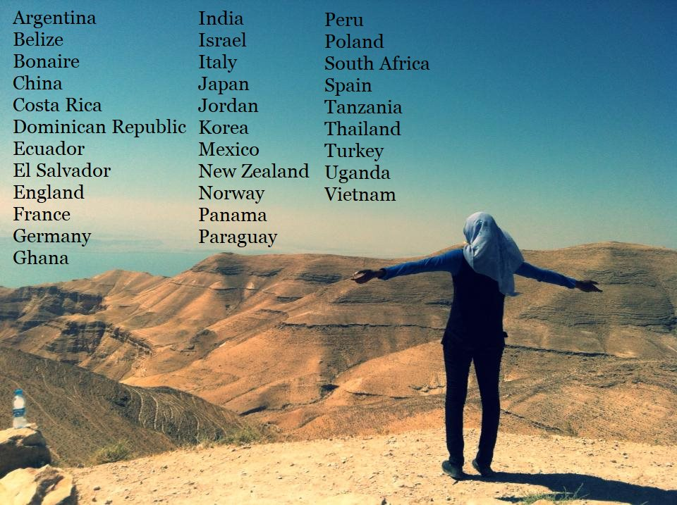 Our students have traveled to 32 countries on 6 continents between 2009 - 2019