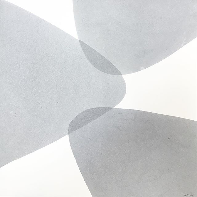 """Some simple gray forms for this Wednesday morning. 13"""" x 13"""" #gray"""