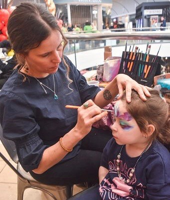 Face painting by Jamie.