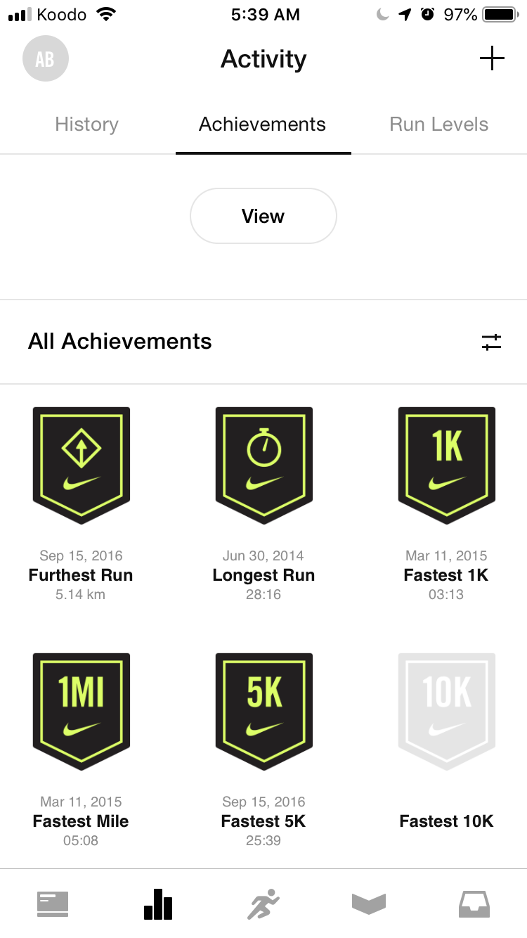 Mynike App for running and weightloss