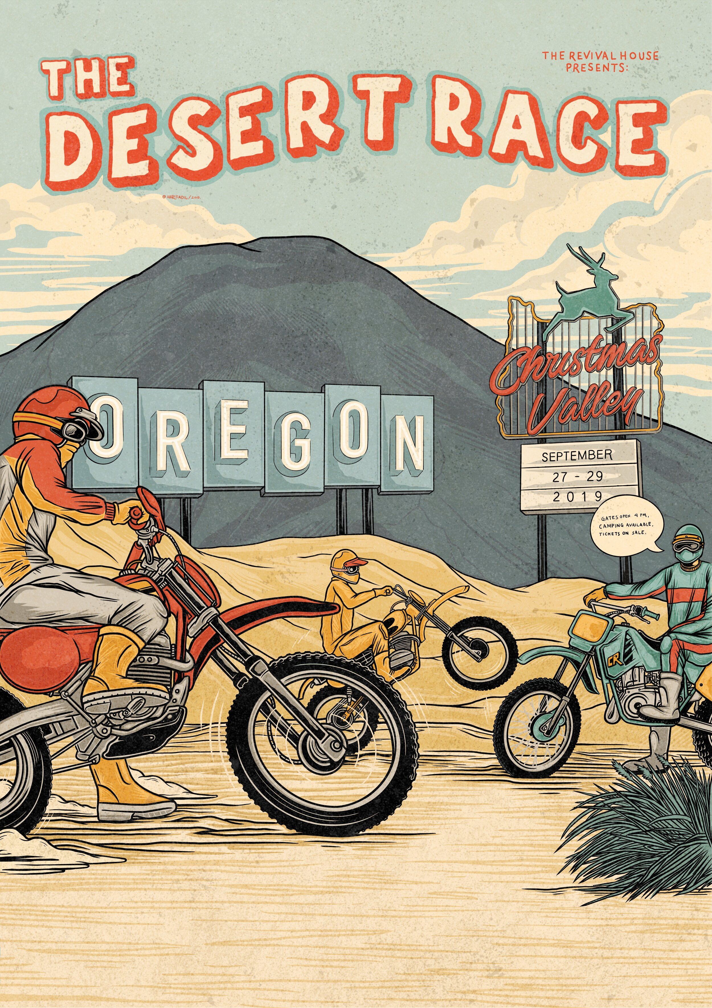 Official 2019 California Desert Race Poster by  @Harifadil