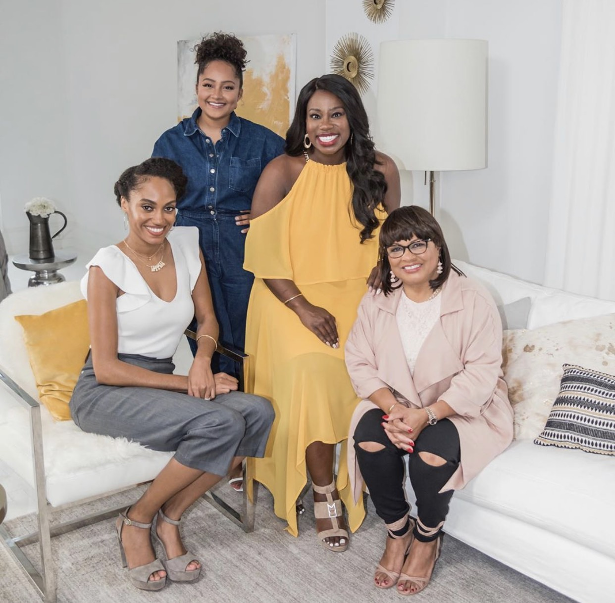 """Meet the women who reign. - Head to the """"We Shine"""" panel with entrepreneurs @nicolewalters @danachanel @jewelmelanie and McDonald's Owner/Operators @jadeashleycolin and Tanya Hill-Holliday @smallfry004It's all that and more at the Black & Positively Golden Experience.#blackandpositivelygolden #wearegolden #essencefest"""