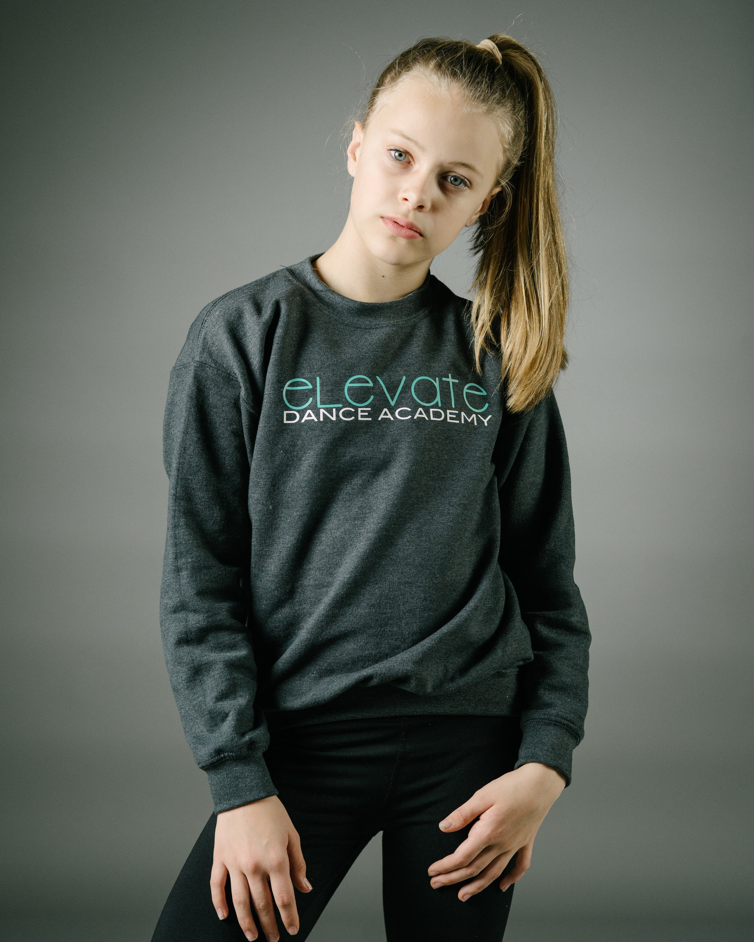Grey Crew Sweatshirt (Elevate logo)