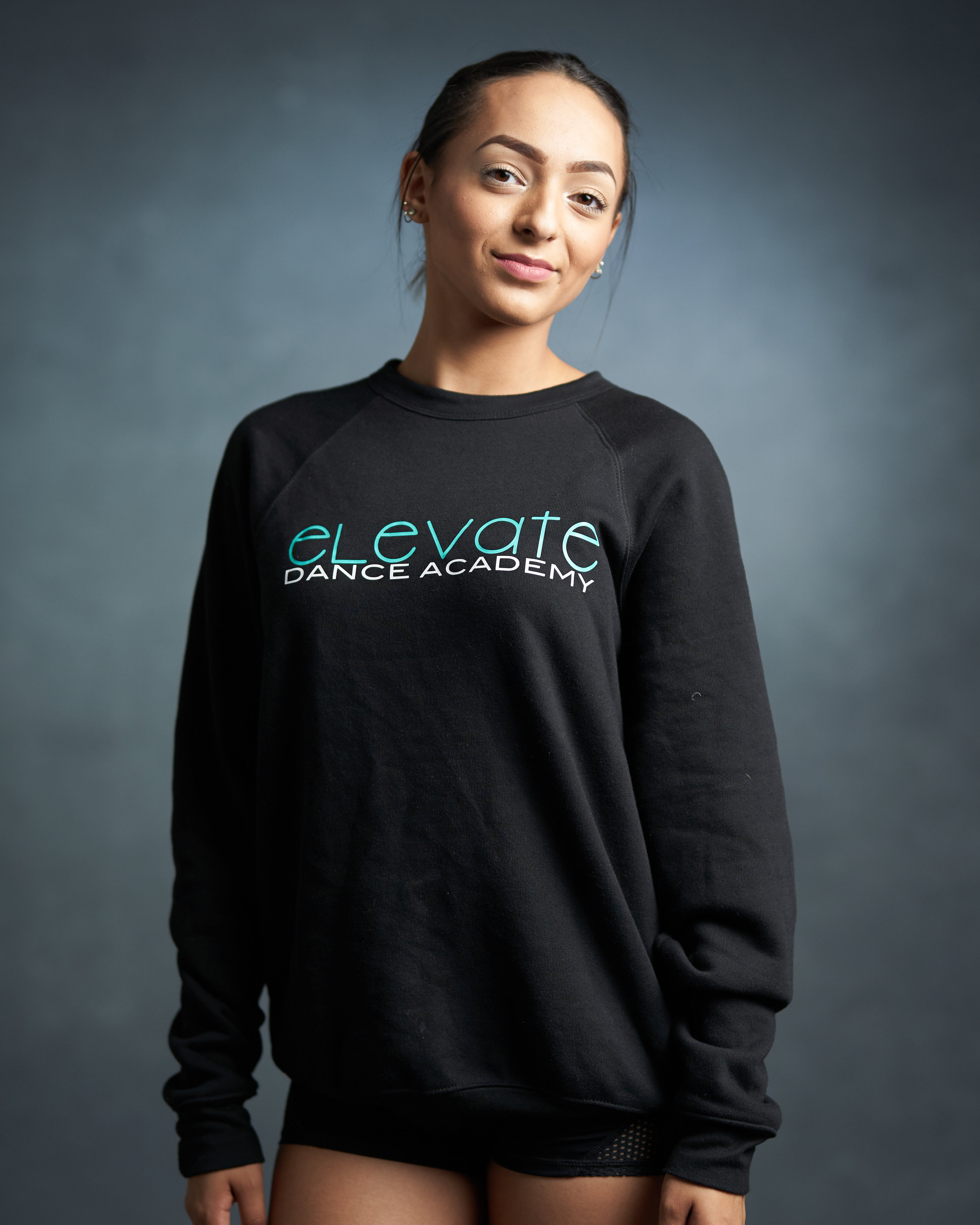 Black Crew Sweatshirt (Elevate logo)