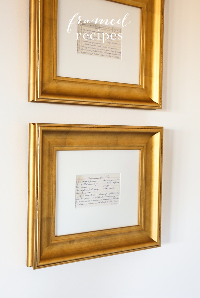 Framed Recipes