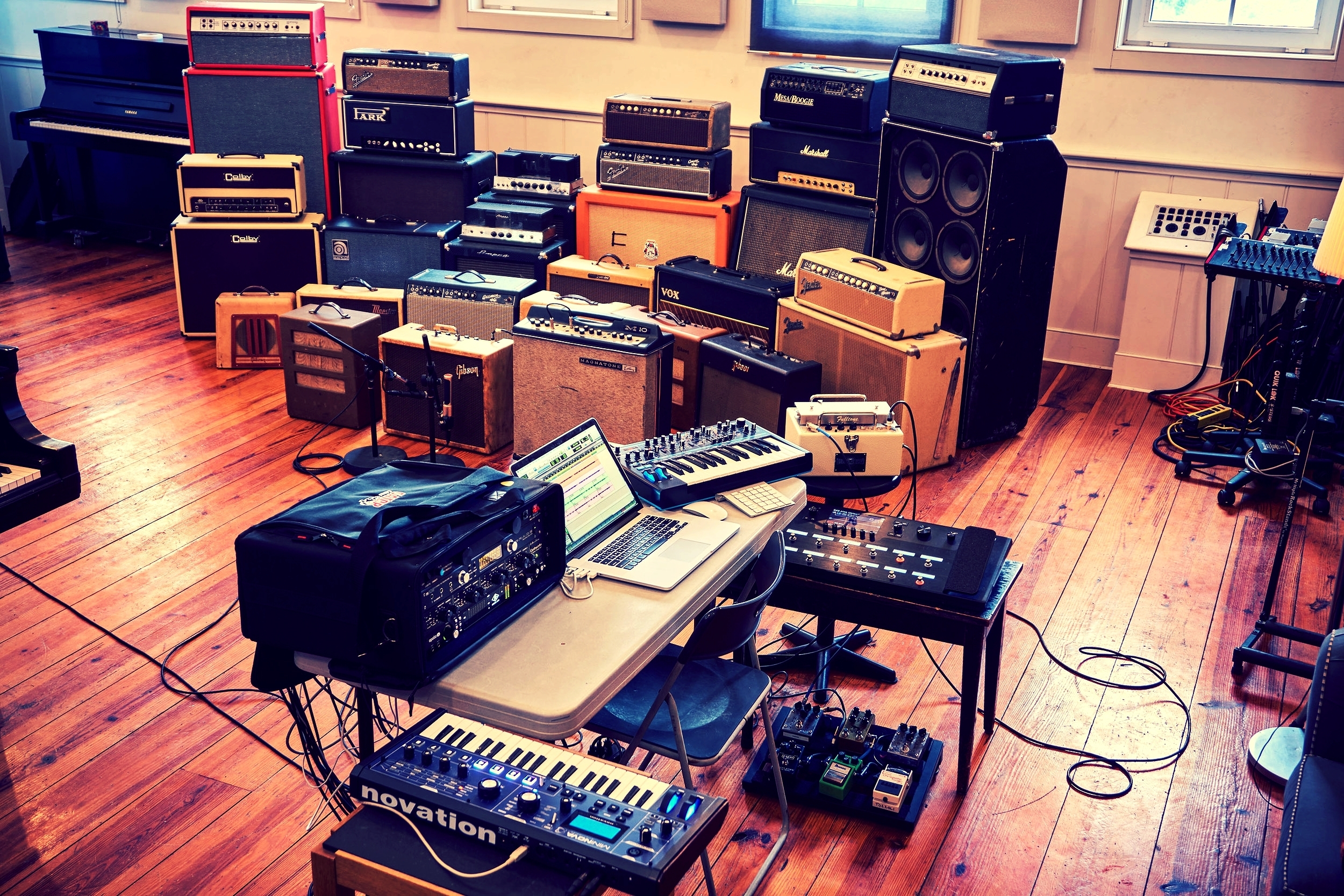 My mobile recording rig in the Clubhouse live room