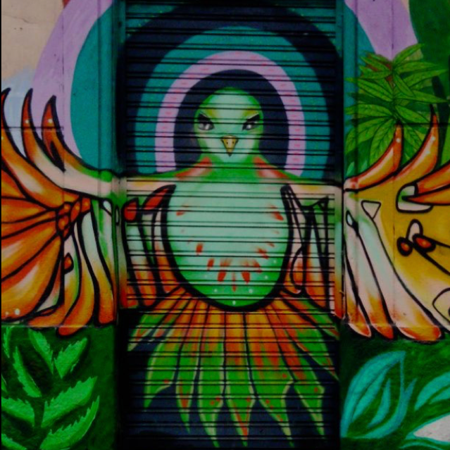 Peace Dove, from Street Art and Graffiti in Santiago de Chile (Part 1), by Yasha Langford and Juergen Klein. [http://dare2go.com/street-art-graffiti-santiago-de-chile-1/]
