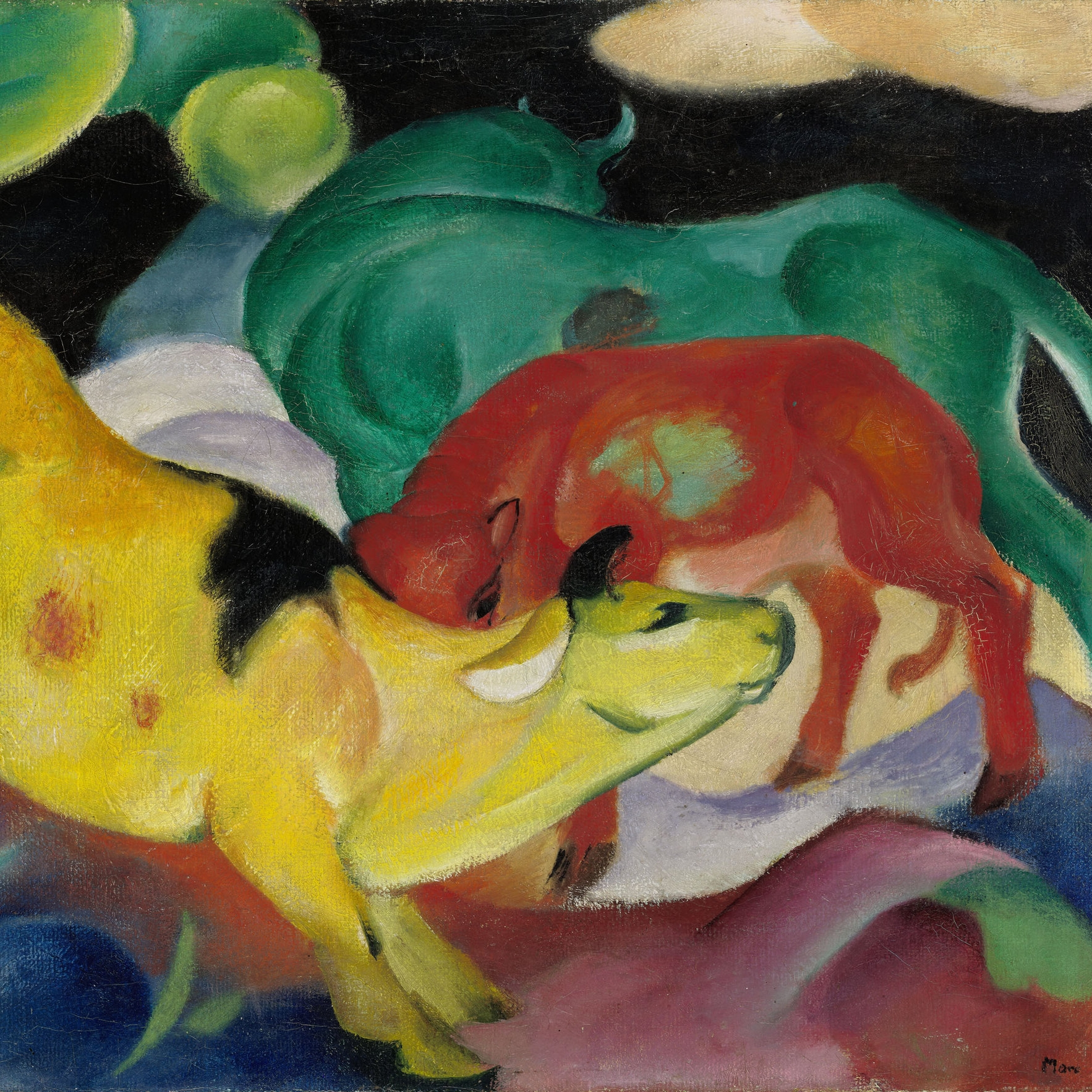 IMAGE CREDIT: Die gelbe Kuh (The  Yellow Cow ), by Franz Marc (1911) [ https://commons.wikimedia.org/wiki/File:Franz_Marc-The_Yellow_Cow-1911.jpg ]