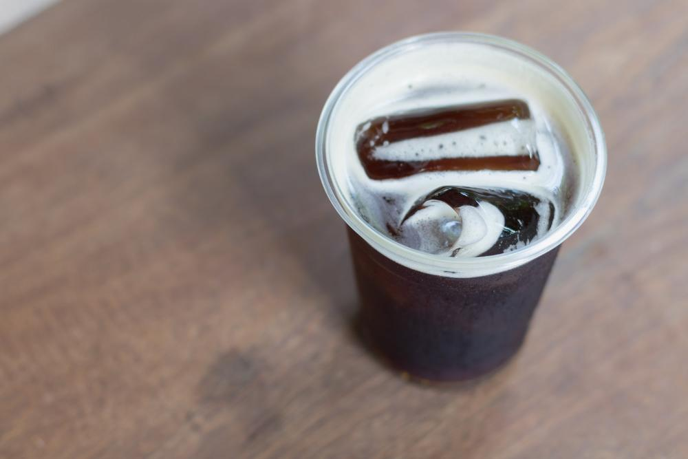 Iced cold brewed espresso