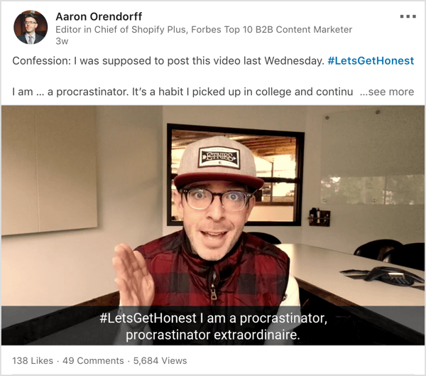 linkedin-video-letsgethonest-hashtag-600.png