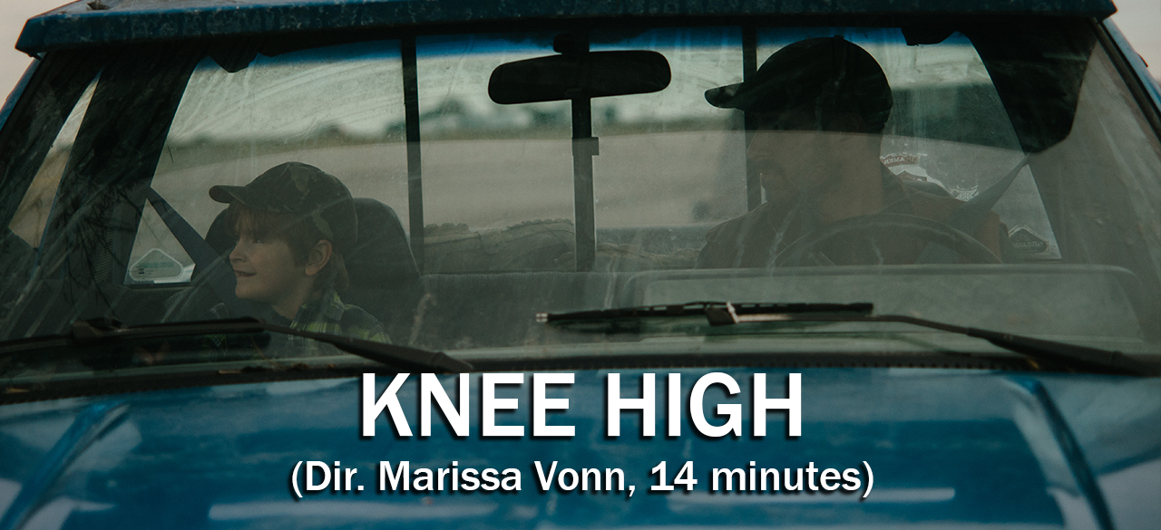 Set against the Iowa farmlands, Knee High follows Calvin Melbourne as he struggles to keep hold of the reins to the family farm while learning to parent his young son.