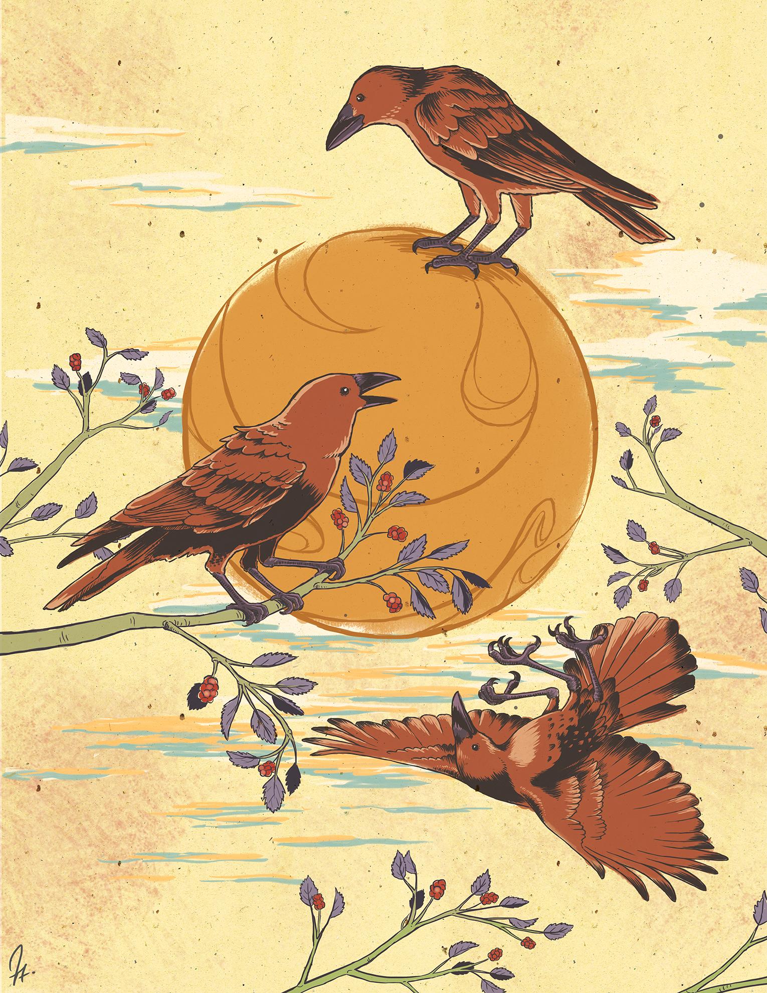 Jinwū (Three-Legged Crows)