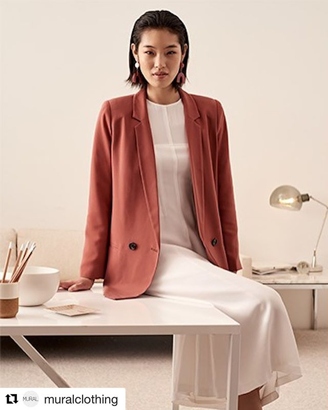 """#Repost @muralclothing ・・・ The 'Oversized Blazer' in an updated neutral, Rust Marsala - as featured in the @Nordstrom NOW Spring 2018 Catalog """"...the best workwear pulls double duty both on the job and after hours..."""" #nordstrom . . . . . #muralclothing #nordstromnow #spring #spring18 #ootd #style #fashion #womenswear #whattowear #savvy #blazer #runway #rust #wardrobe #designer #theworkweek #blazers #contemporary #clothing"""