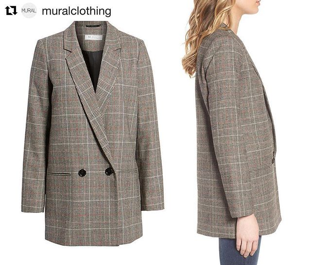 #Repost @muralclothing ・・・ Oversize Plaid Blazer A duo of black buttons completes the menswear vibe of this brown plaid blazer that expertly layers over dressed-up and laid-back looks. Available Now @Nordstrom Full Line and Online Stores! . . . . . #muralclothing #nordstrom #savvy #ootd #womenswear #blazer #blazers #contemporary #fashion #oversizeblazer #plaid #jacket #mural