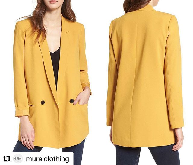 #Repost @muralclothing  The Oversized Blazer is back!! In 4 great color options! ・・・ 'Oversize Blazer'  New! Now Available Only at @Nordstrom Full Line Stores and Online! Bright colors update the look of this oversized blazer that makes a contemporary addition to denim or slouchy pants. . . . . . #nordstrom #muralclothing #savvy #ootd #newlooks #style #fashion #womenswear #blazer #bright #contemporary
