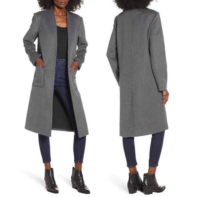 Long Open Front Coat in Charcoal Grey.  Available @Nordstrom Direct Now!  Warm and woolly, this chic longline coat is styled with a versatile open front and handy patch pockets. . . . . . #muralclothing #nordstrom #style #longcoat #fallfashion #styletrend #styleblog #fashion #savvy #contemporary #wiwt #saturdaystyle #weekendstyle #ootd #chic #longline #charcoalgrey #coat #womenswear #styleblogger #bloggerstyle # #instastyle #fblogger