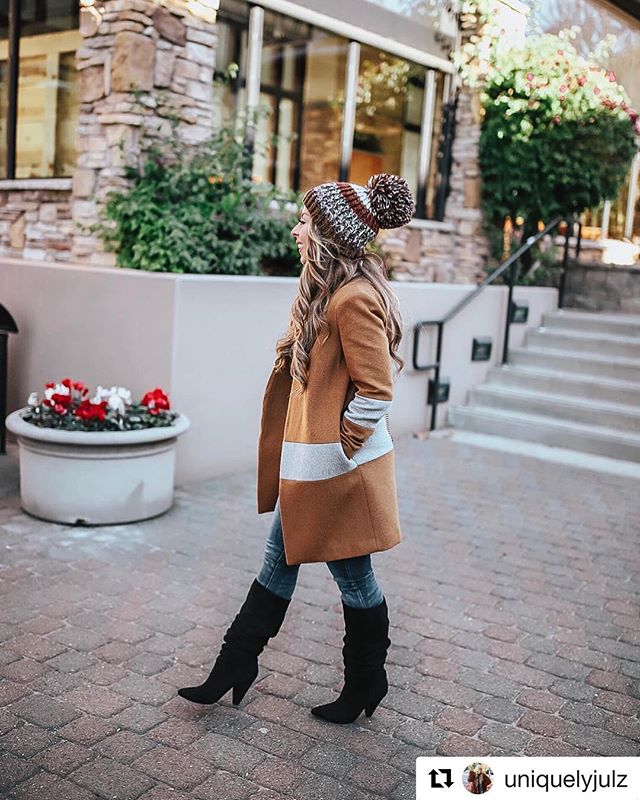 "#Repost @uniquelyjulz in our #MuralClothing Burnt Camel Blanket Coat! 💕 ""And my all time fav coat TO DATE goes to... 🎉🎉 This camel colorblock coat is actually the most gorgeous piece I've bought this season! It's under $100 and sure to sell quick! #liketkit #LTKunder100"" ・・・ Available Now @nordstrom!  Clean lines define this collarless wool-blend coat that makes any look contemporary with wide color-blocked stripes wrapping around the body and sleeves. . . . . #nordstrom #instastyle #fblogger #fashionlover #outfitoftheday #ootdshare #ootd #lookoftheday #mylook #fashionable #currentlywearing #womenswear #ltkit #lookoftheday #streetwear #womenstyle #fallfashion #savvy #nordstrom #blanketcoat #camelcoat #fashionbloggers #streetstyle #fashionblog #styleblogger #woolcoat"