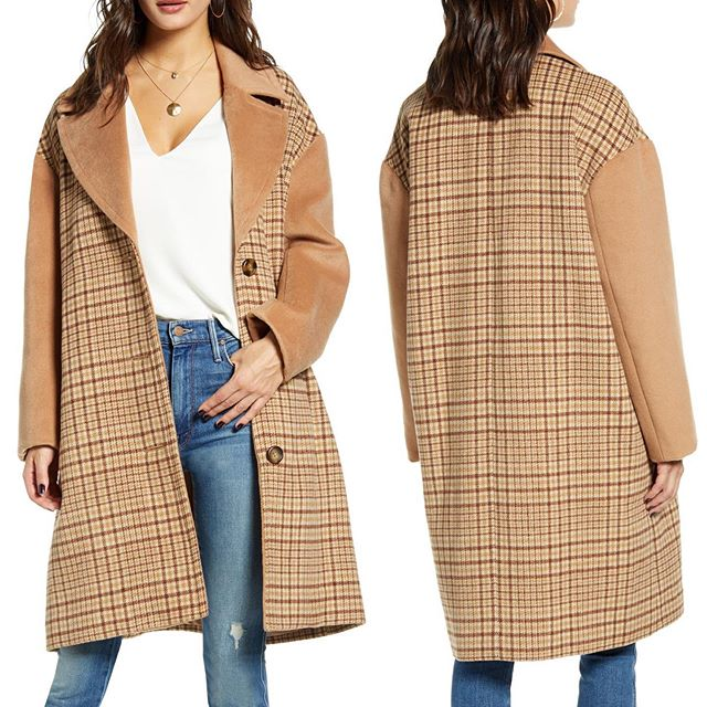 Plaid Longline Coat Solid sleeves and lapels intensify the retro vibes of this oversized plaid coat. Available at @Nordstrom Online and Select Full Line Stores! . . . . . #muralclothing #nordstrom #savvy #contemporary #fashion #blazer #plaid #plaidblazer #coat #jacket #outerwear #womenswear #style #longlineblazer #styleblogger #wiwd #ootd #ltkit #fallstyle #oversizedblazer
