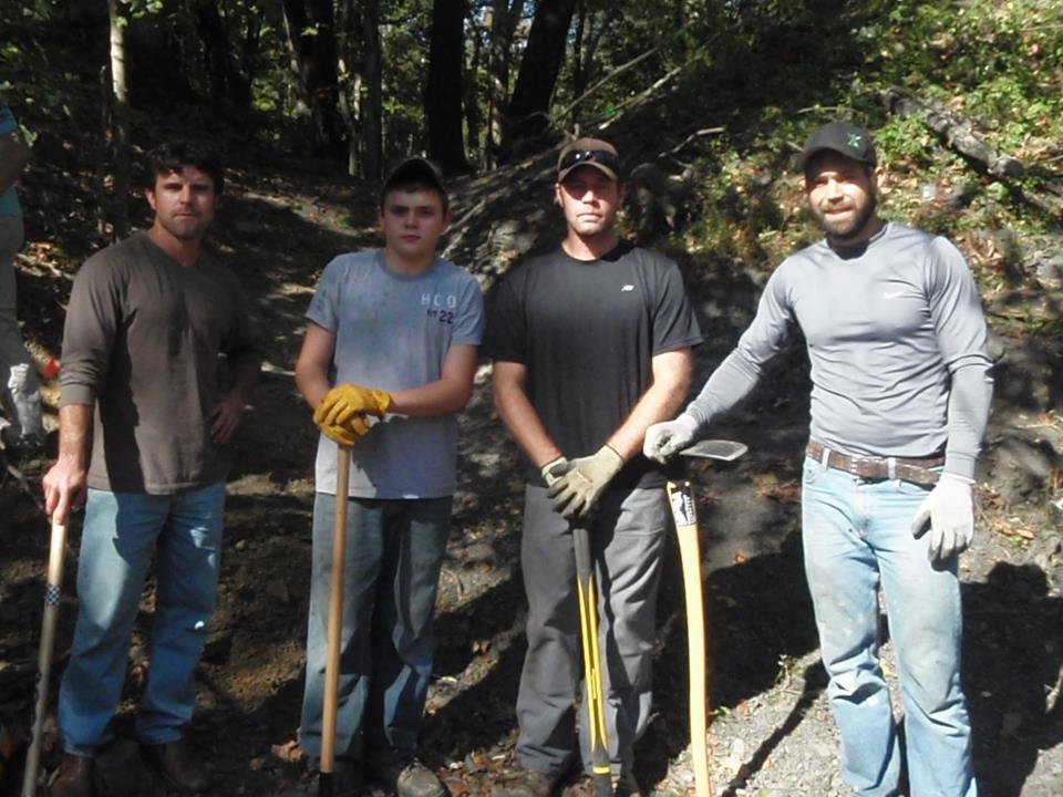 Trail Work - Trail Heads volunteers devote many hours of trail work at local parks.