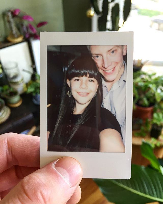 Three years since this beauty and I re-met at an event at @therevelroom and I saw that long hair swinging about and felt like my face looked like that emoji with hearts for eyes 😍 . #anniversary#chicago#chicagogram#married#marriage#love#fujiinstax#fujiinstax#fuji#bartender