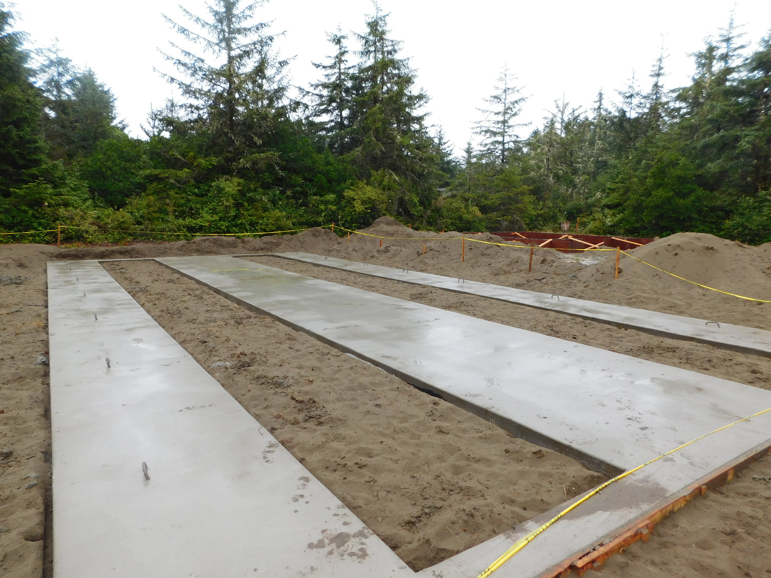 Concrete Foundation Runners Poured