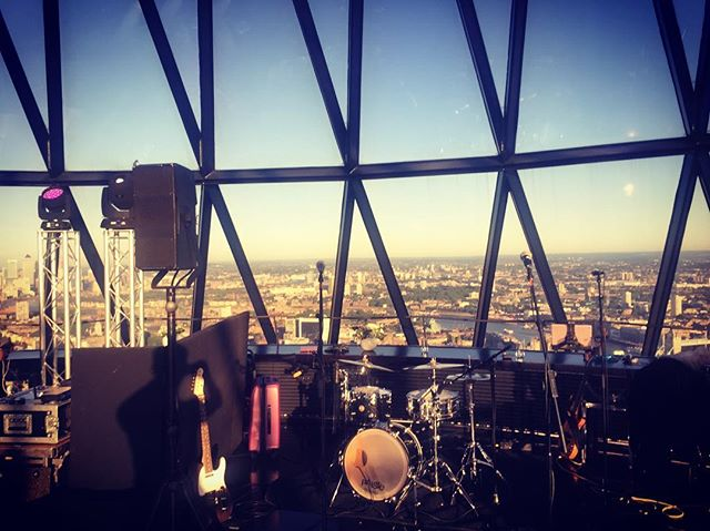 Definitely the highest gig in London tonight! Beautiful weather to be at the top of the Gherkin.