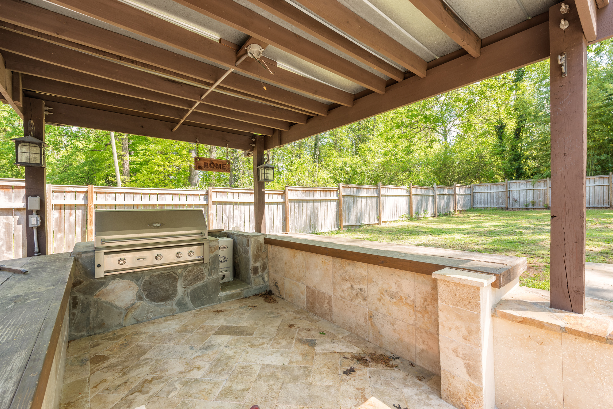 Covered grilling patio