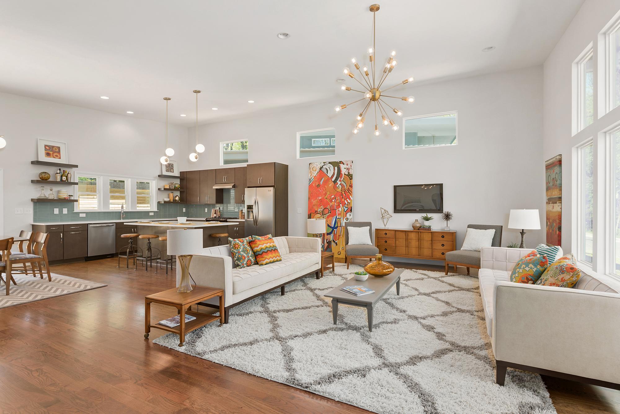 Vibrant living area