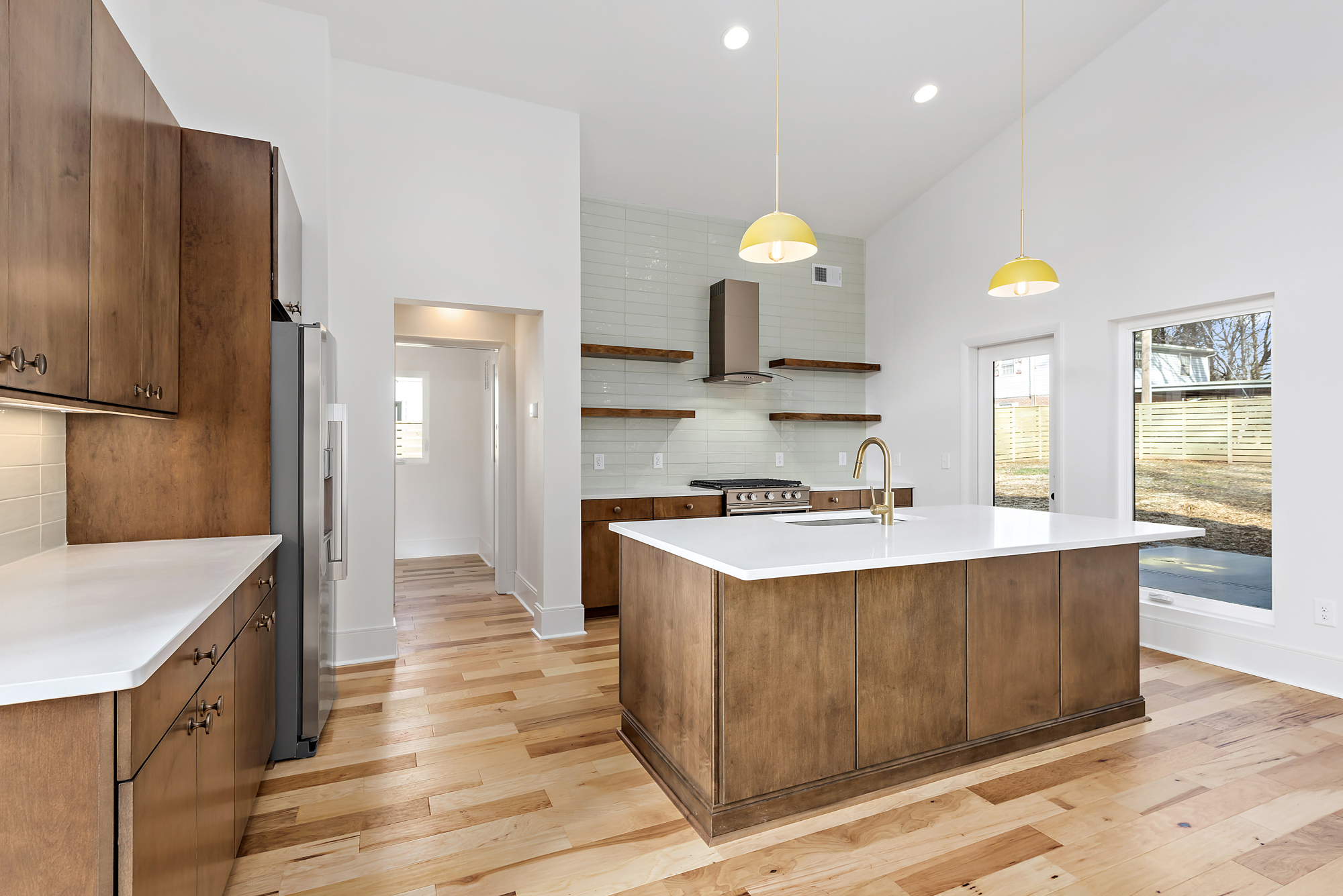 Open concept dining-kitchen-living room