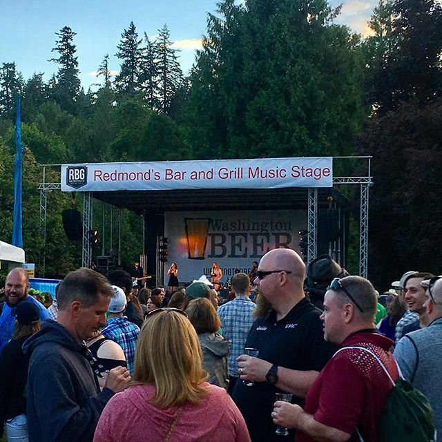 Day one DONE with @washingtonbeer at the Wa Brewer's Festival! Come by and see us tomorrow for day two of the crazy-fun-madness! #drinkwabeer #followmetorbg