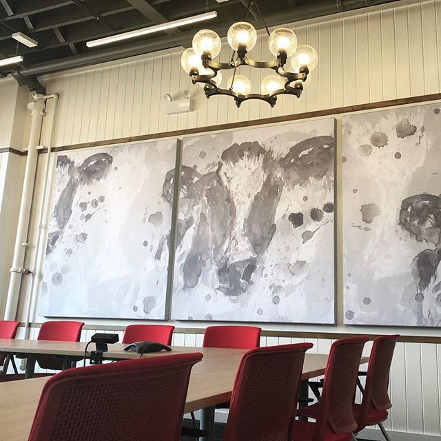 If these printed acoustical panels don't cause you to go vegetarian, we're not sure what will. . [Image: Meeting Room at Edlong Corp. @edlongflavors in Elk Grove Village, IL #designedbyWPS in collaboration with @thegraphicsco] . #workplacedesign #modernfarmhouse #officefurniture #corporatemeetingroom #meetingroomdesign #workspacedesign #chicagointeriordesigners