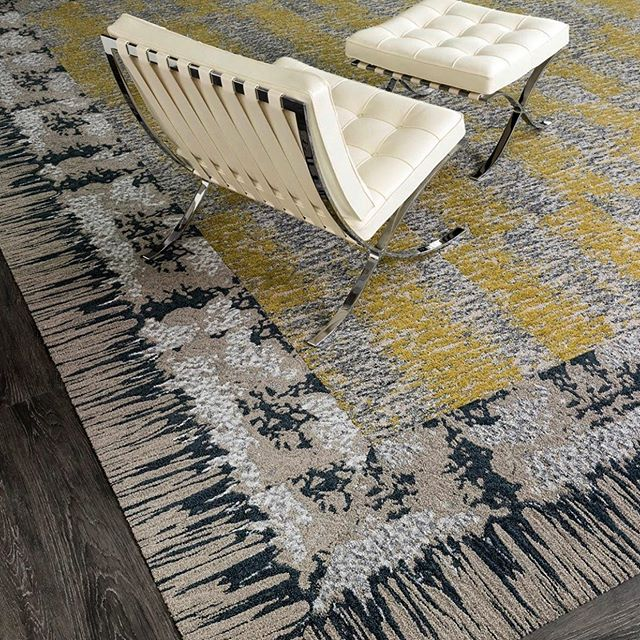 This modular carpet collection by @jjflooringgroup is inspired by patterns and glazes from @pewabic pottery. That's quite the crossover, and we dig it 👌 . #interiordesigninspo #corporateinteriors #flexoffice #workplacedesign #coworkingspace #coworking #coworkingspacedesign #workspacedesign #workplacestrategy #gwaconference #officedesign #gwaconference19