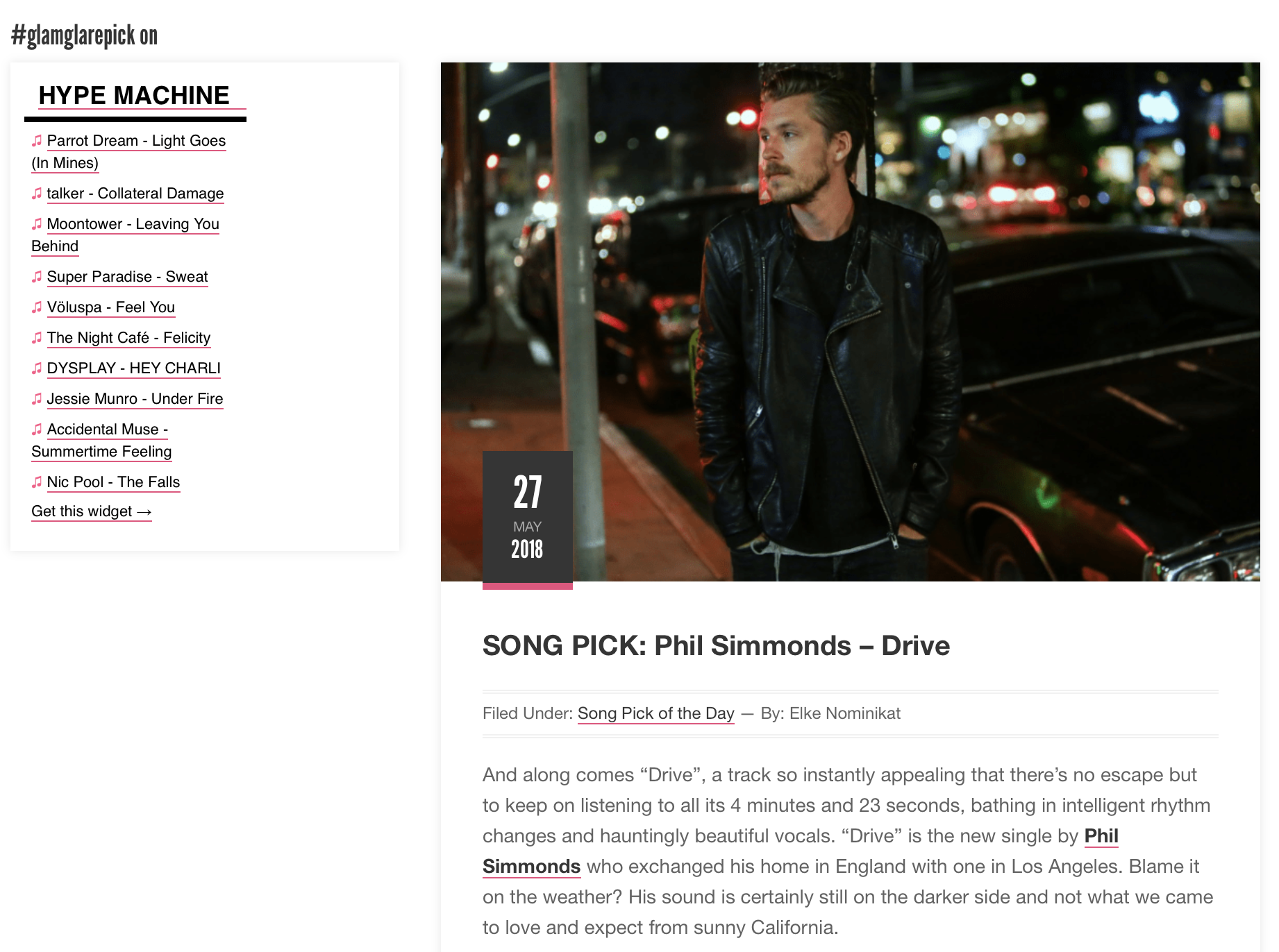 Song Pick Of The Day - -