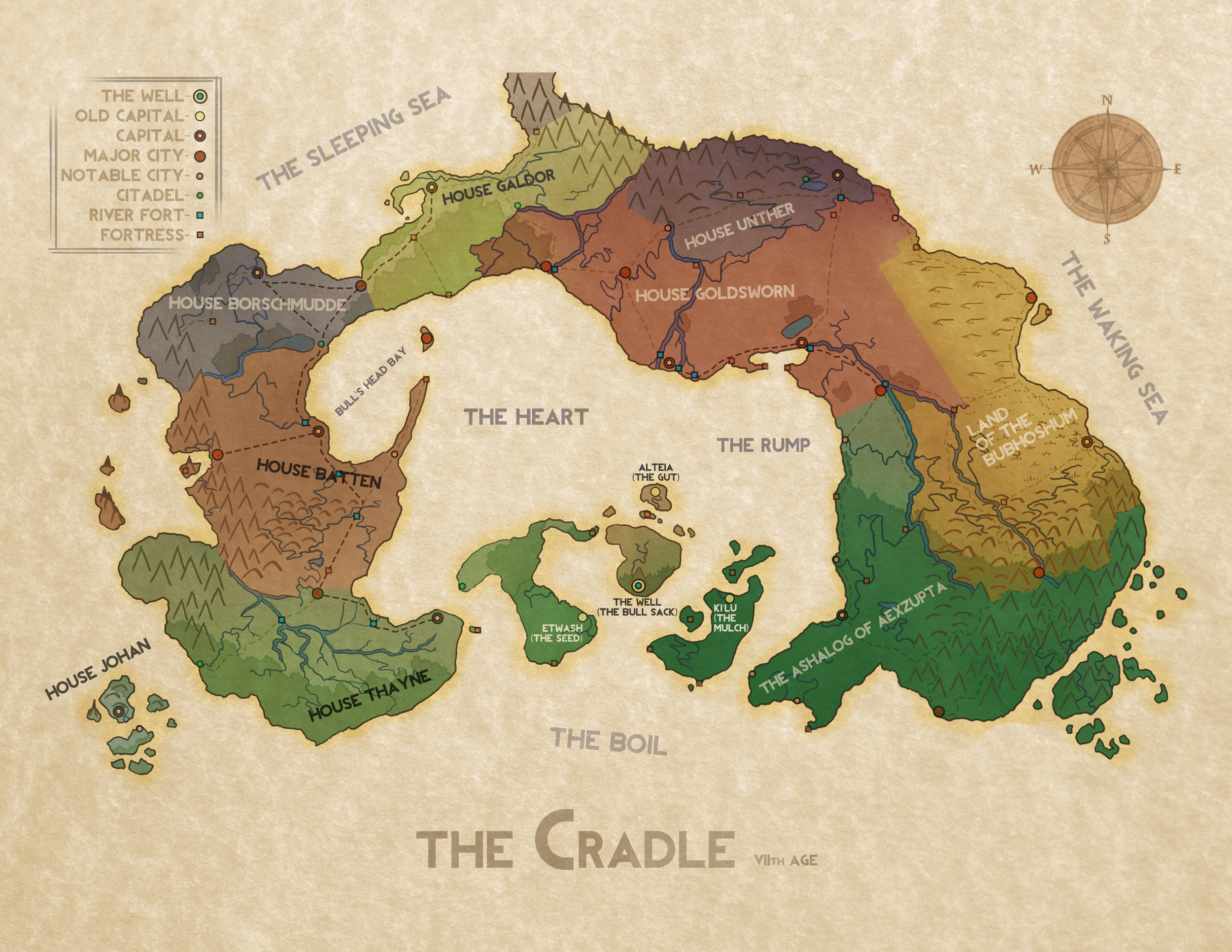 Map of The Cradle