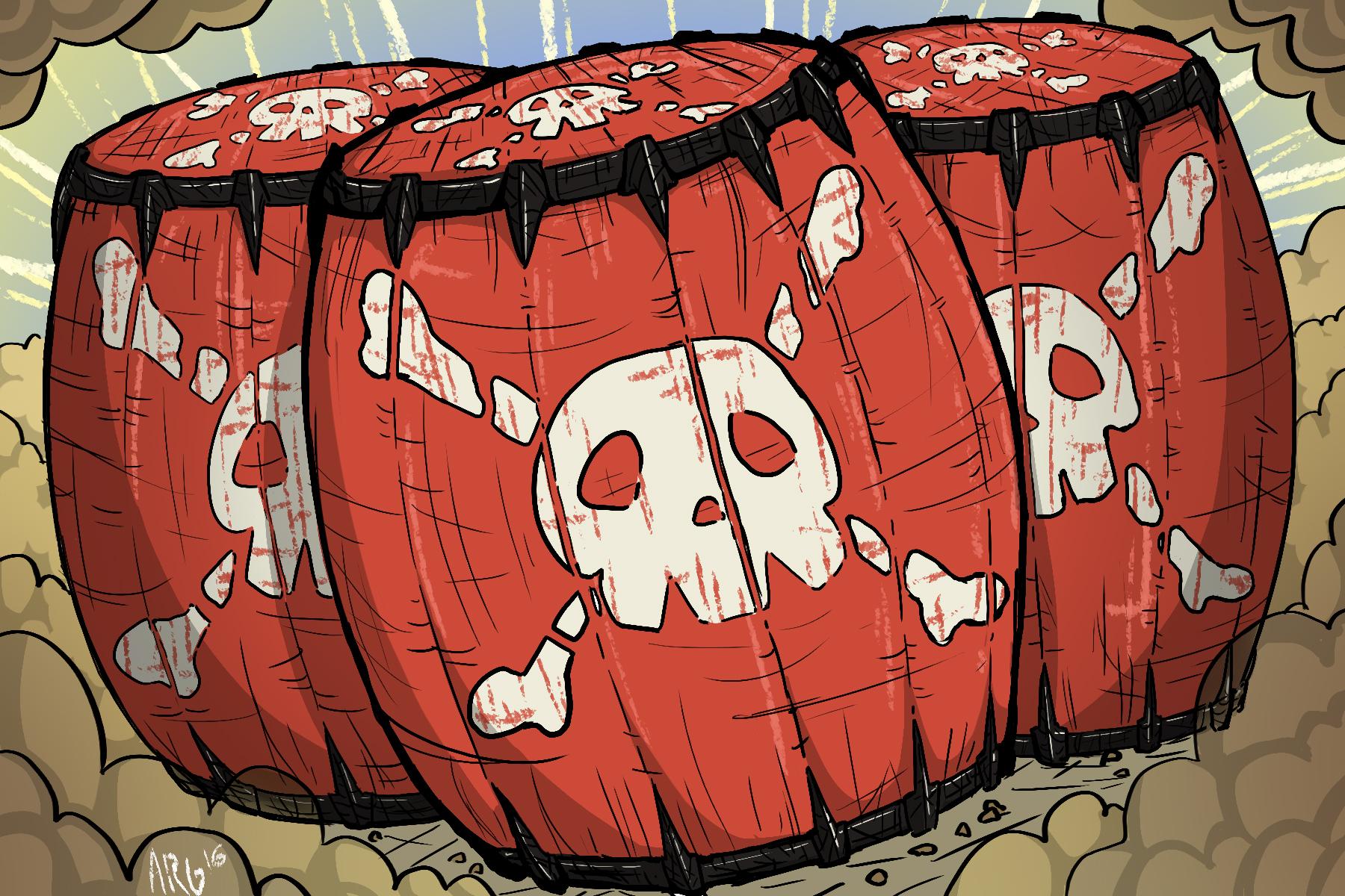 Barrel Bombs - Breath of the Wild