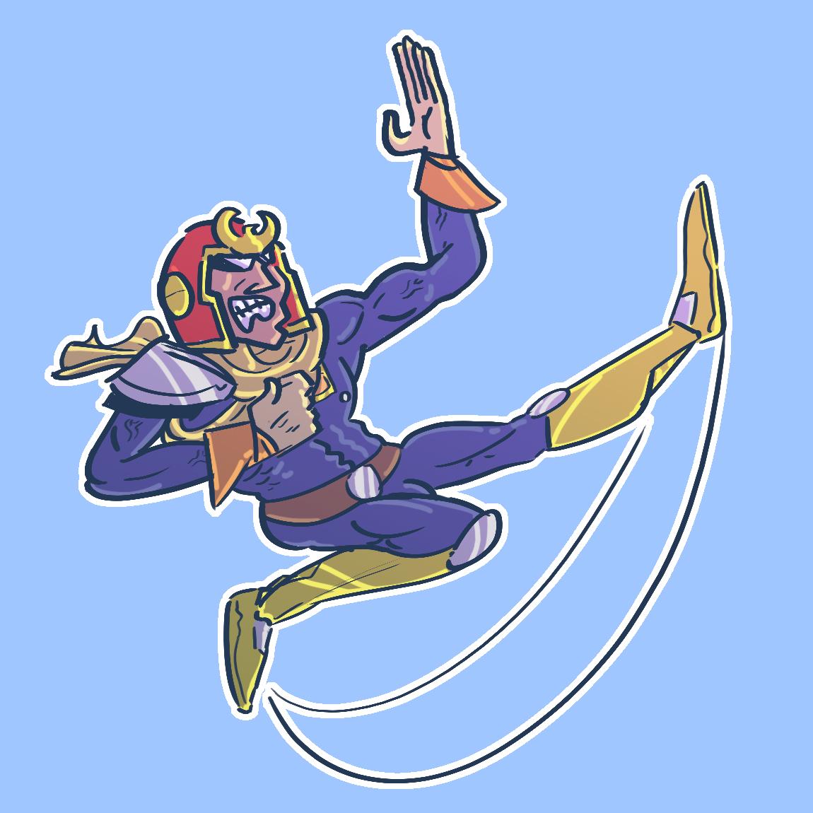 Captain Falcon - Neutral Air