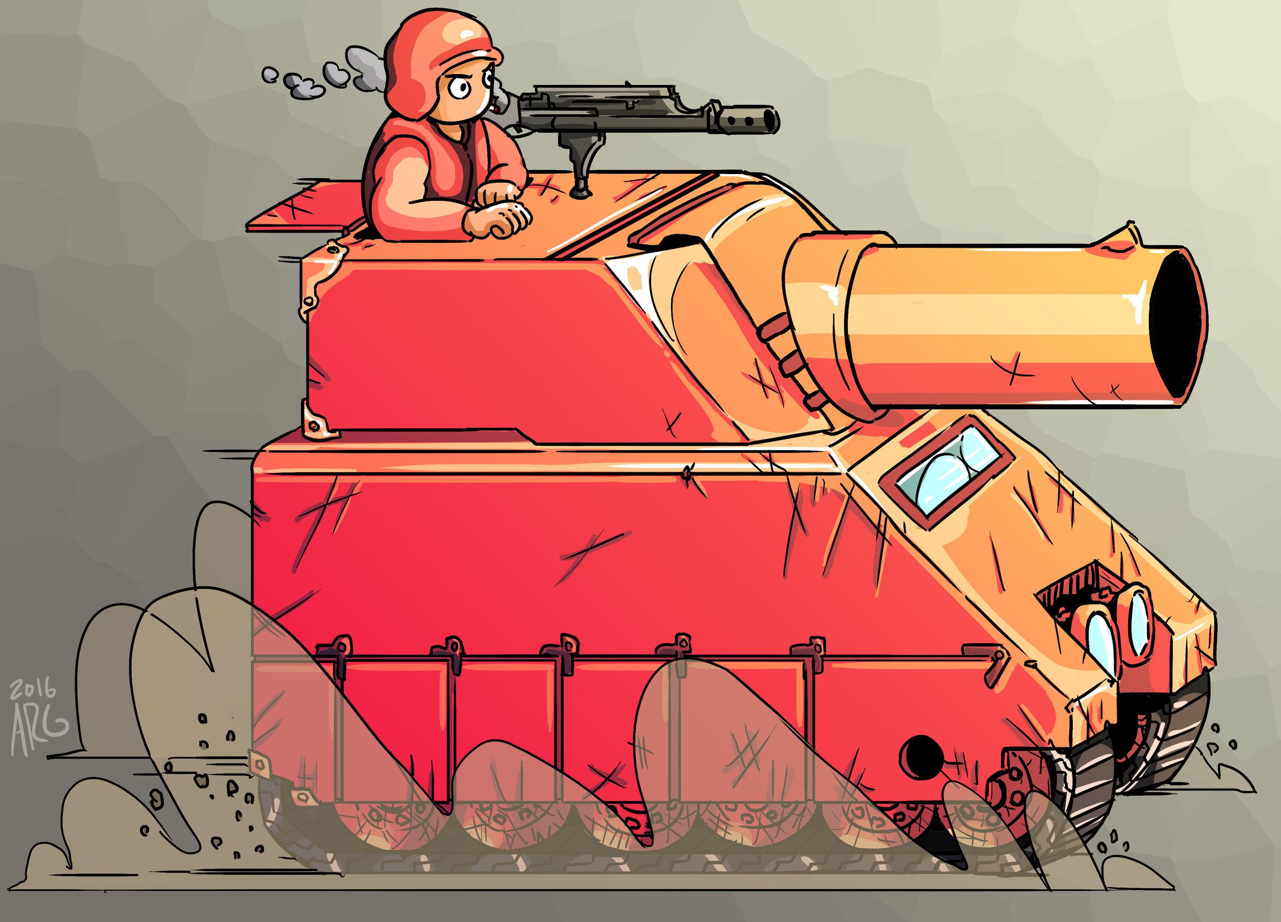 Advance Wars - Medium Tank