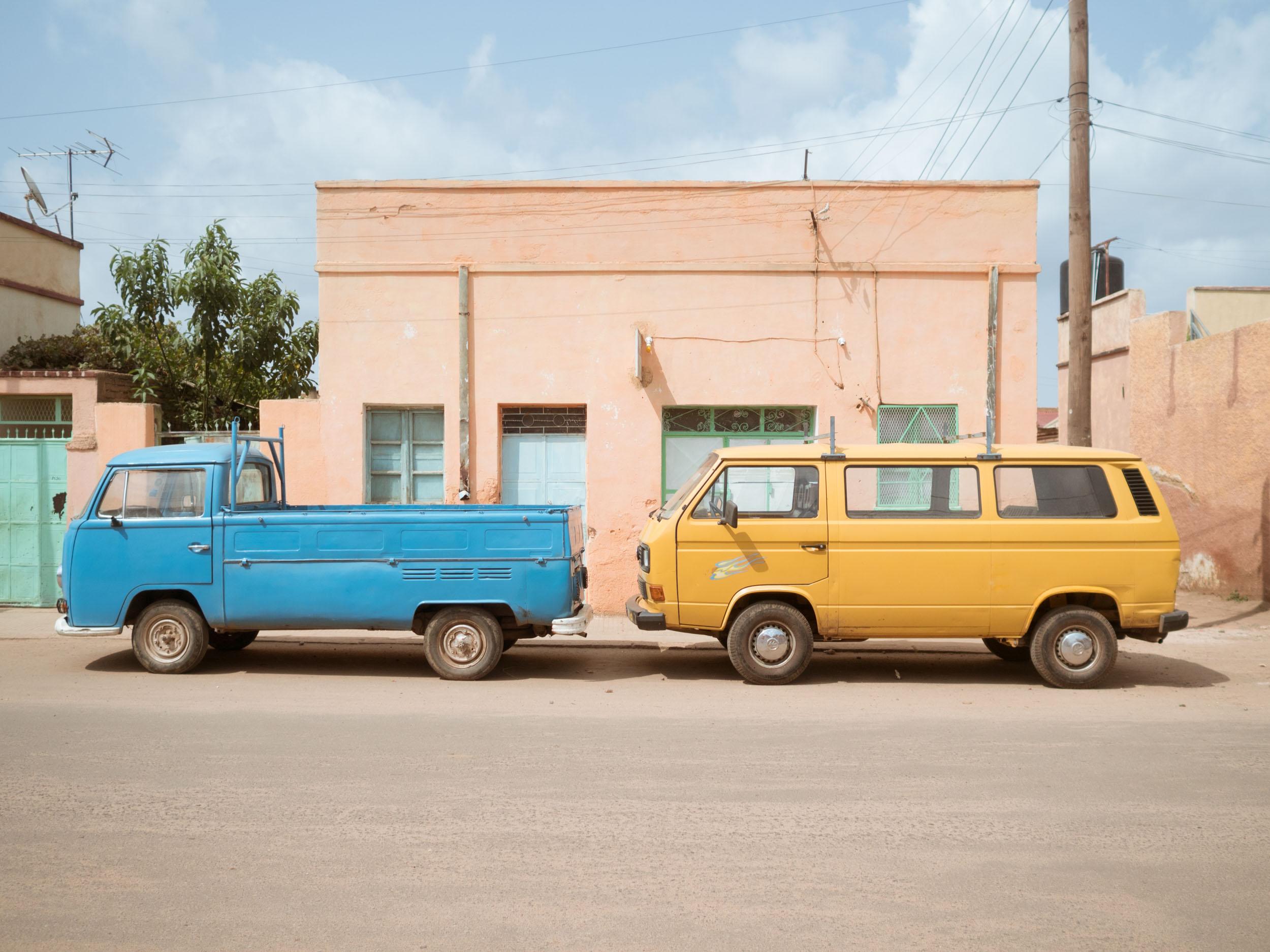 VW vans in the streets of Asmara, Eritrea.