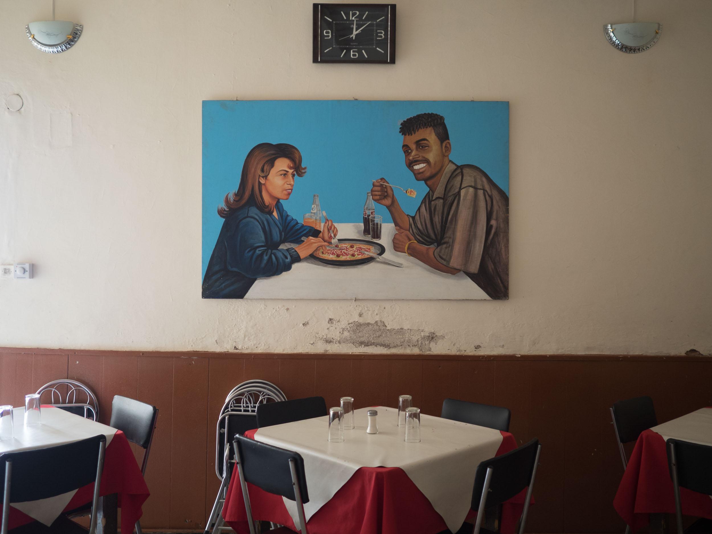 One of the best pizzeria in Asmara, Eritrea.