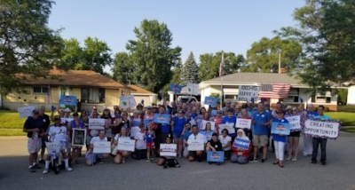 Group photo with the Waukesha County Democratic Party.