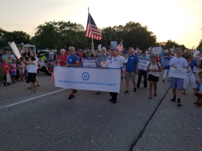 Our parade group in action.