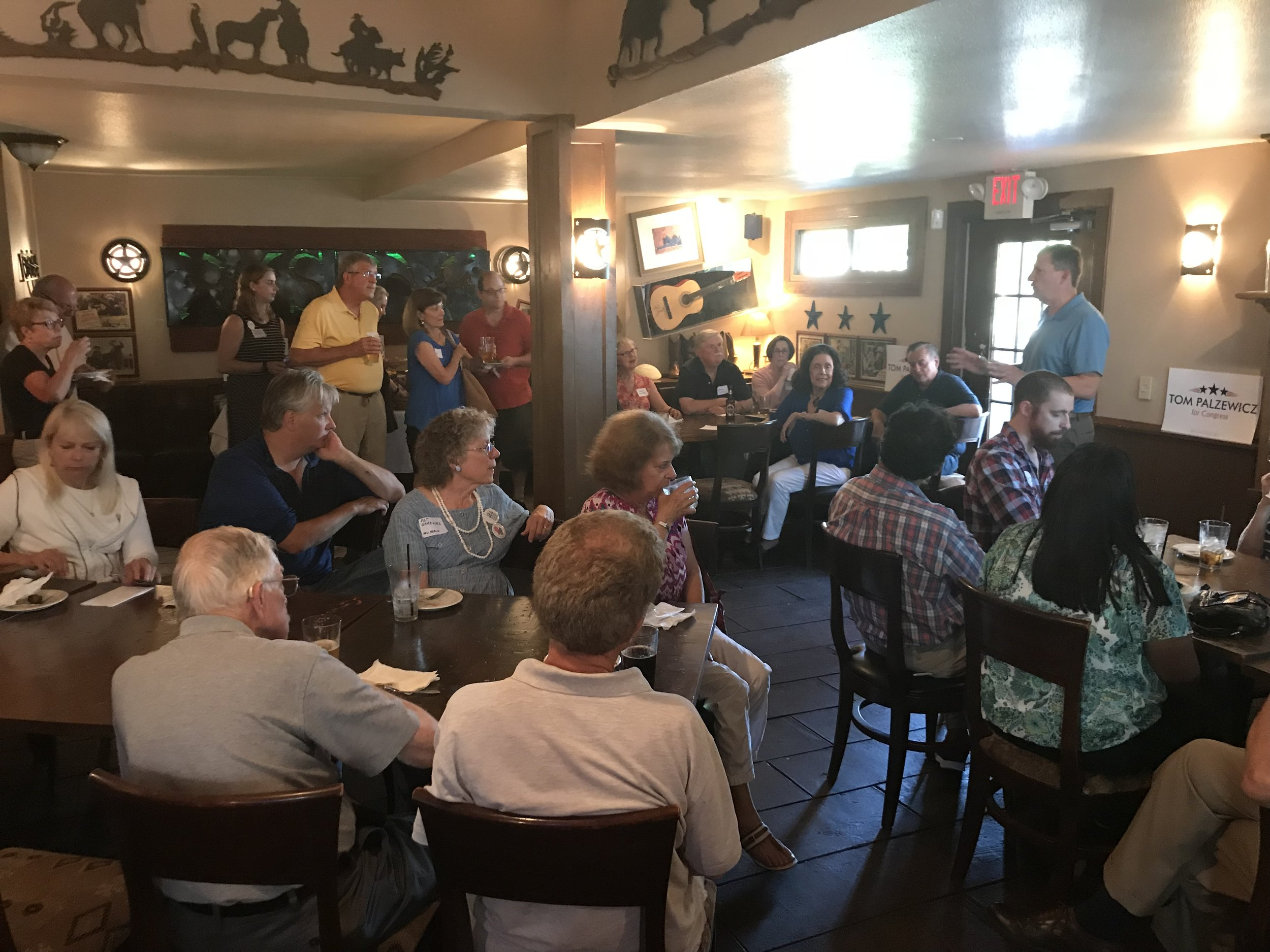You're invited to join Congressional Candidate Tom Palzewicz (WI-5) for food and drinks at our Lake Mills Mixer.  This is your opportunity to learn more about Tom's campaign and enjoy an evening with friends who understand it's time for responsible leadership in the 5th.   Tuesday, July 17th, 6:00 PM to 8:00 PM   Water House Bistro : 132 E Lake St, Lake Mills, WI 53551   Contribution Levels:   Host: $500 | Sponsor: 250 |Activist: $100 | Friend: $50 |Voter: $25   Contributions of any size are gratefully accepted!     Click here to Contribute and RSVP