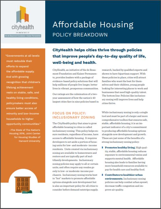 Policy Brief: Affordable Housing